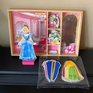 Cinderella Magnetic Wooden Wardrobe Set